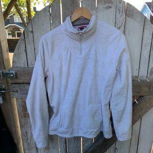 North Face White Fleece Jacket